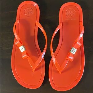 Tory Burch Orange Jelly Sandals in size 6.5